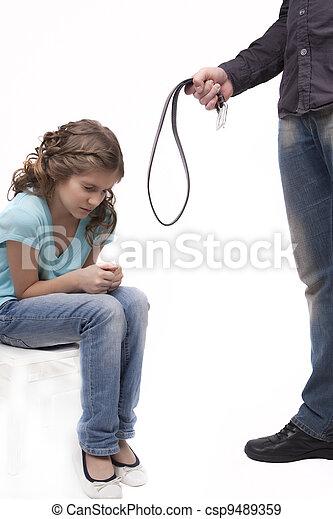 traitement, punition, ceinture - csp9489359