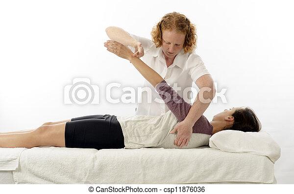 traiter, kinesiologist, serratus antérieur - csp11876036