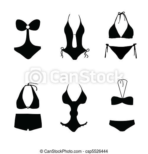 Bikini, traje de baño, traje de baño - csp5526444