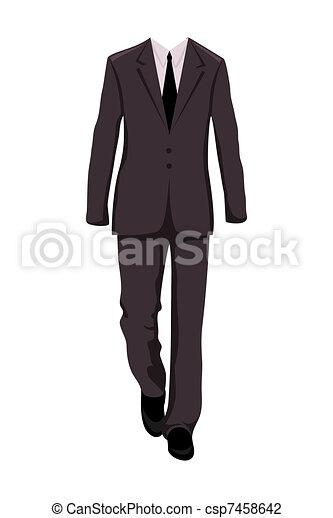 Traje de negocios masculino, elementos de diseño - csp7458642
