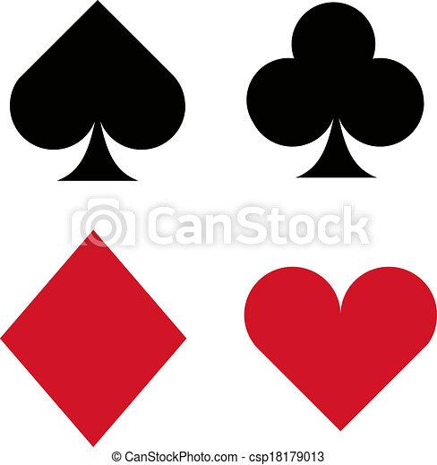 Íconos de traje de cartas - csp18179013