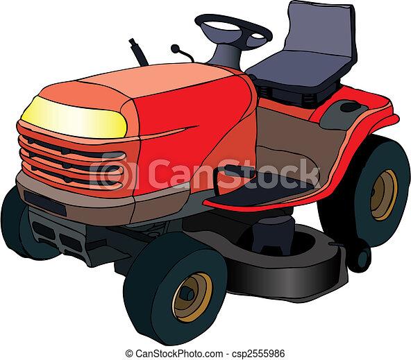 traktor, lawngräsklippningsmaskin - csp2555986