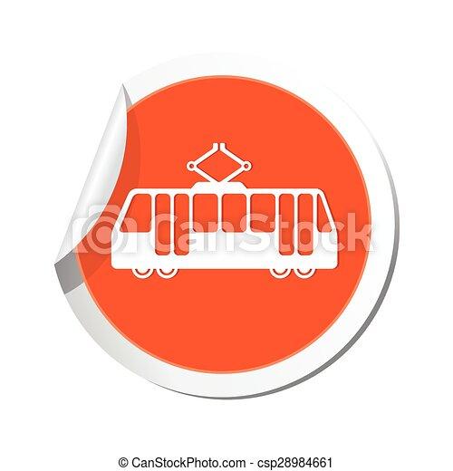 Tram icon. Vector illustration - csp28984661