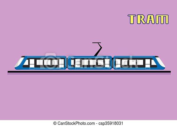 Tram Modern City Public Transport - csp35918031