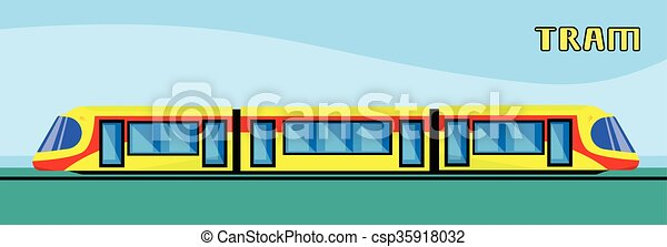 Tram Modern City Public Transport - csp35918032