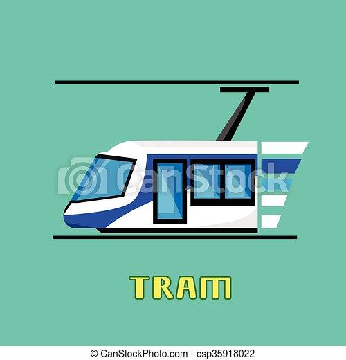 Tram Modern City Public Transport - csp35918022
