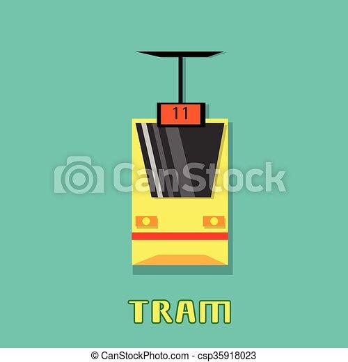 Tram Modern City Public Transport - csp35918023