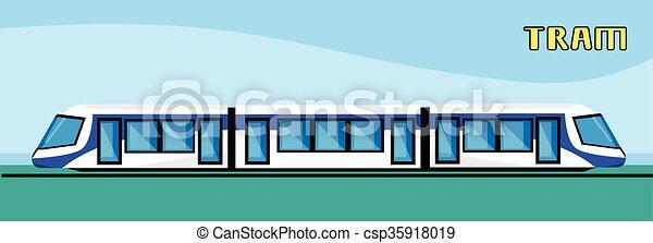 Tram Modern City Public Transport - csp35918019