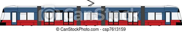 tram, moderno - csp7613159