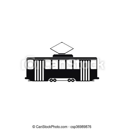 Tram Simple Style Icône