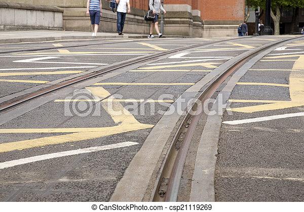 Tram Tracks - csp21119269