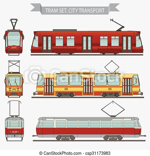 tram vector city transport - csp31173983
