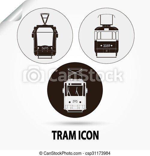 tram vector city transport - csp31173984