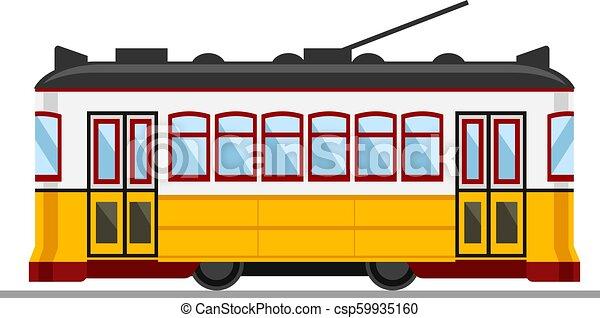Tram Vendange 28 Portugal Jaune Célèbre Lisbonne