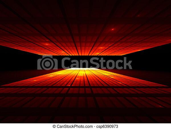 tramonti, prospettiva, città, vista - csp6390973