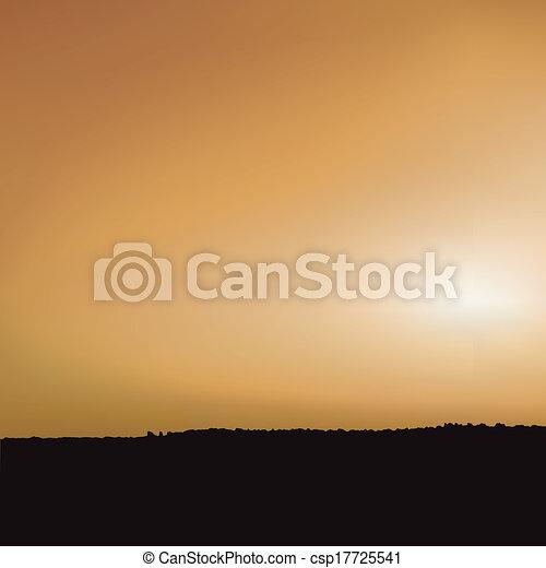 tramonto, savana - csp17725541