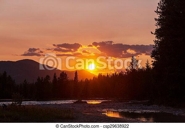 tramonto, scena - csp29638922