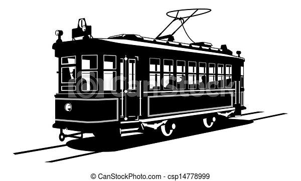 Tramway blanc noir illustration tram illustration de stock rechercher des clipart des - Dessin tramway ...