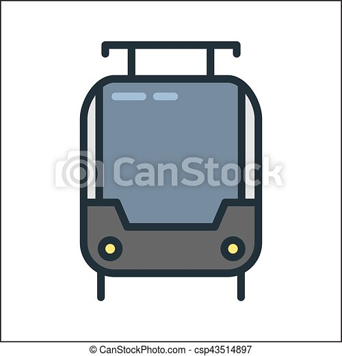 tramway icon color illustration design - csp43514897