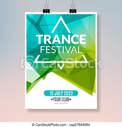 Trance Dance Music Poster Music Party Flyer Banner Design Disco Night Club Event Template