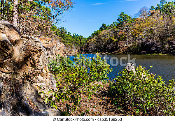 Tranquil Outdoor Scene in Oklahoma - csp35169253