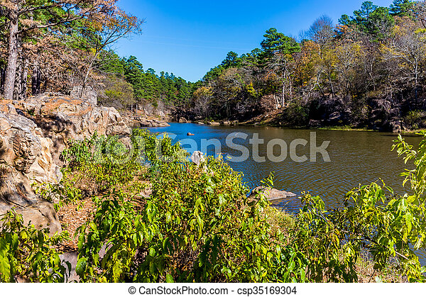 Tranquil Outdoor Scene in Oklahoma - csp35169304