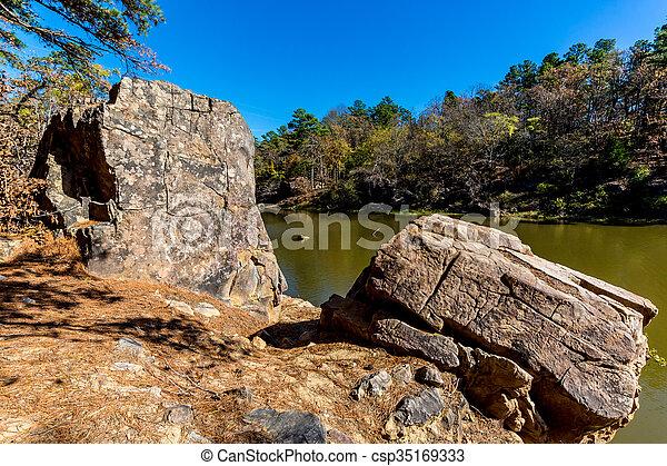 Tranquil Outdoor Scene in Oklahoma - csp35169333