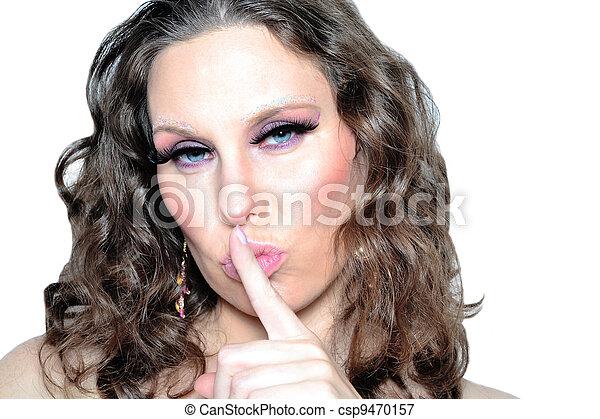 Silencio, por favor - csp9470157