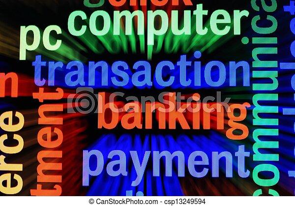 Transaction banking payment - csp13249594
