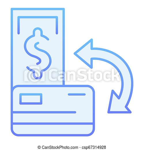 transaction flat icon and credit card blue icons in trendy flat style cashback gradient style design designed for web and can stock photo