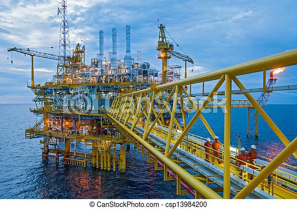 transferencia, aceite, gas, plataformas - csp13984200