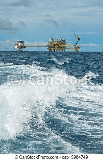 transferencia, aceite, gas, plataformas - csp13984749