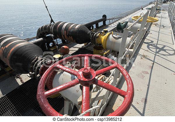 transferencia, aceite, gas, plataformas - csp13985212