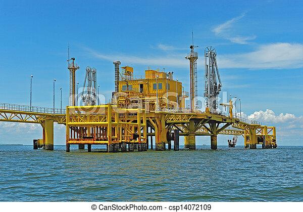 transferencia, aceite, plataformas - csp14072109