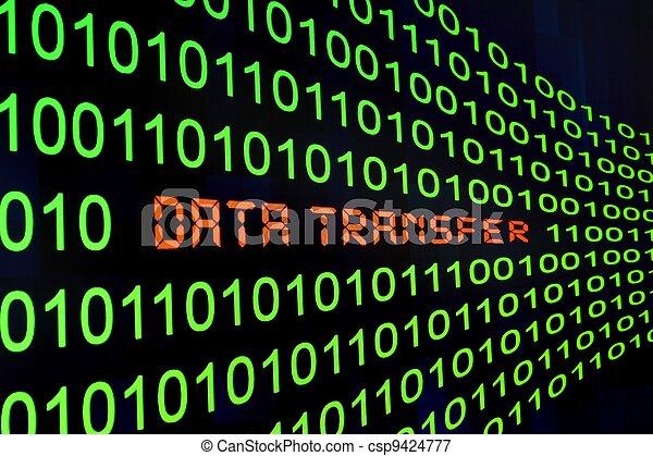 transfert, données - csp9424777