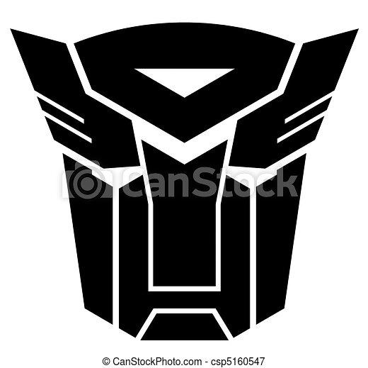 Transformatoren. Autobot, transformers., emblem.