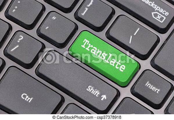 """Translate"" on computer keyboard - csp37378918"