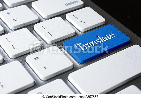Translate on white keyboard - csp43857887