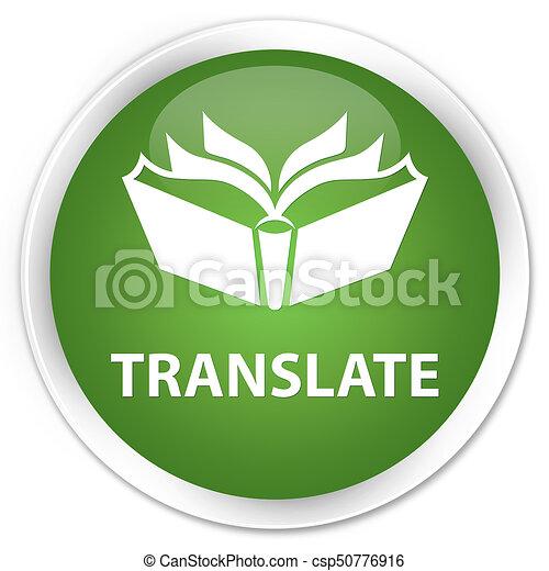 Translate premium soft green round button - csp50776916