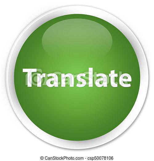 Translate premium soft green round button - csp50078106