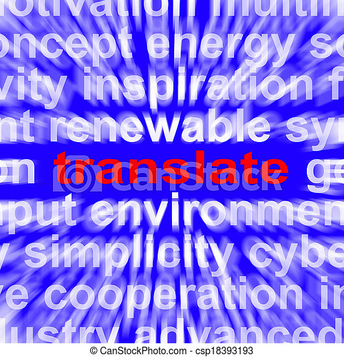Translate Word Means Converting To Another Language - csp18393193