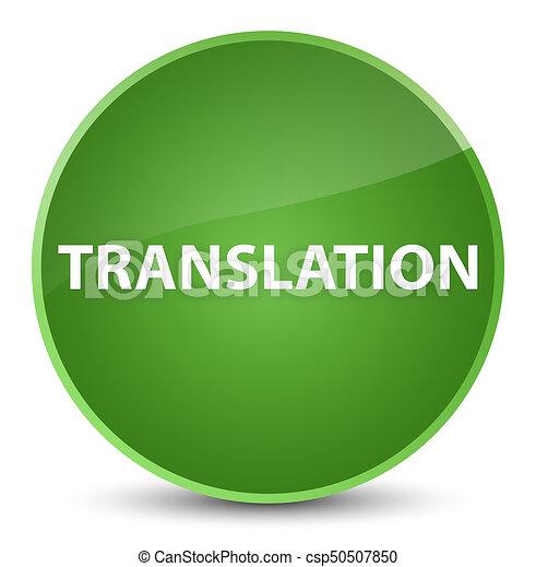 Translation elegant soft green round button - csp50507850
