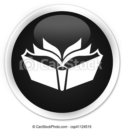Translation icon black glossy round button - csp41124519