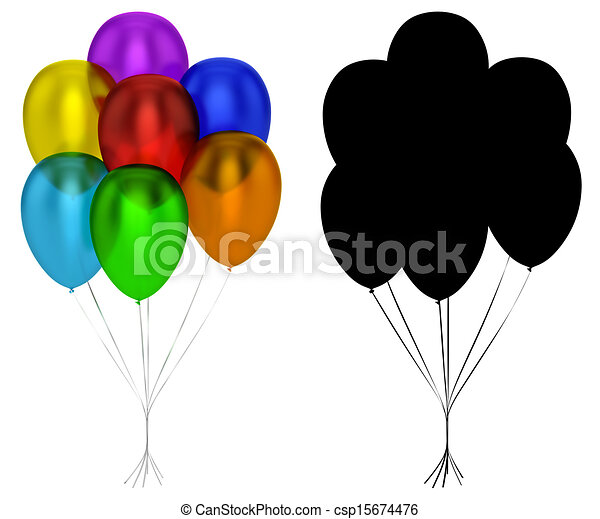 Translucent Balloons Isolated - csp15674476