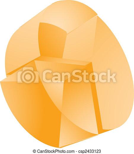 translucent pie chart drawings_csp2433123 translucent pie chart 3d translucent pie chart financial diagram