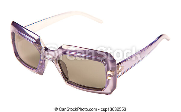 c20475282 Translucid purple rimmed vintage sunglasses isolated on white background. clipping  path included.