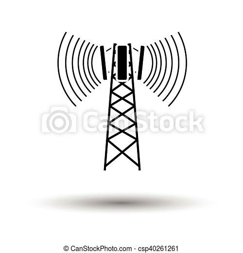 El icono de la antena - csp40261261