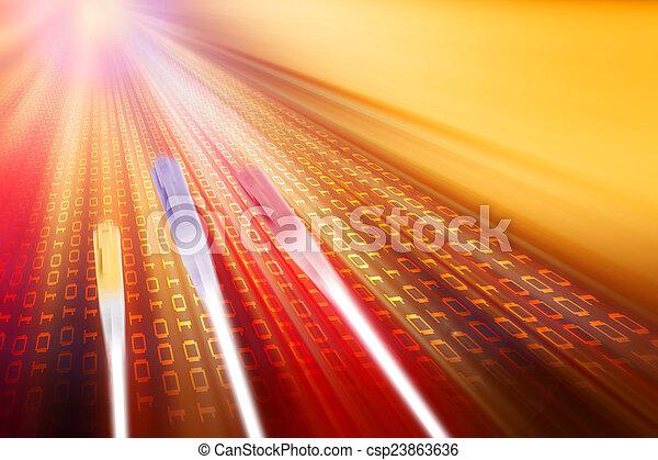transmission, données - csp23863636