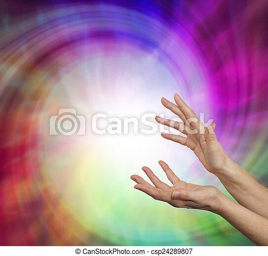 transmitir, energía, curación - csp24289807