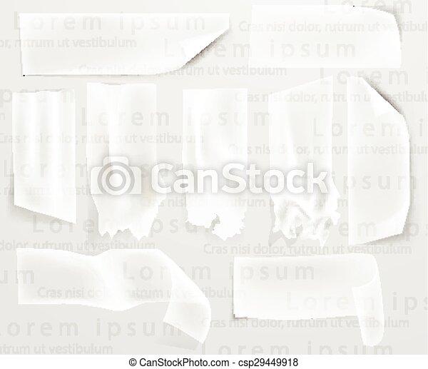 transparent adhesive tape, scotch tape - csp29449918